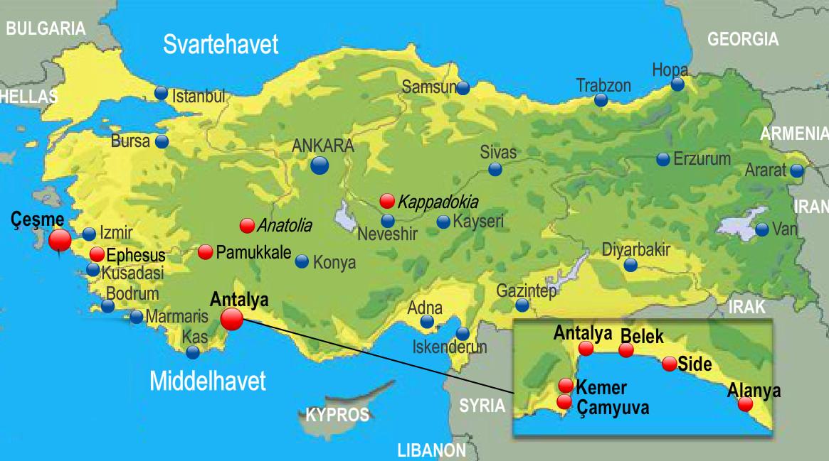 kart over antalya Leilighet i Tyrkia til leie kart over antalya